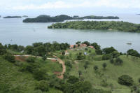 airel view of Panama fishing resort